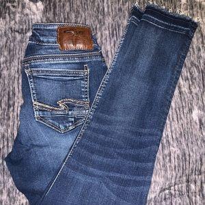 Silver Suki Mid Ankle Skinny Women's Jeans
